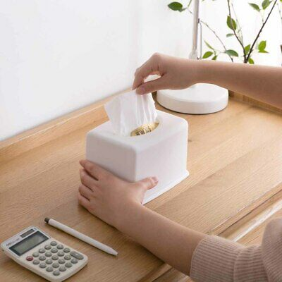 Tissue Box Cover Wall Mount Napkin Paper Case Holder Storage Organizer Dispenser