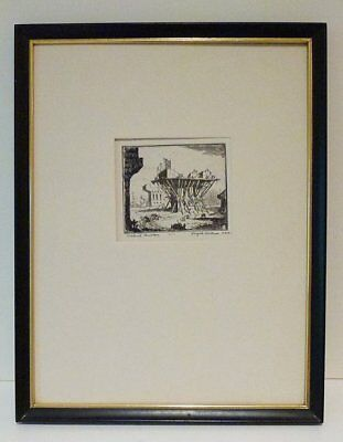 Reynold Henry Weidenaar - Rare Early Miniature Etching  -Coa -Listed