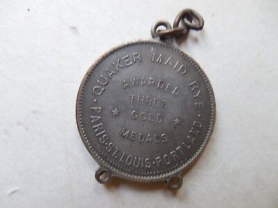 1905 Paris Exposition Medal International Expo Fair Quaker Maid Rye St. Louis