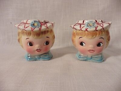 Vintage Lefton Japan Miss Dainty Salt & Pepper  #439
