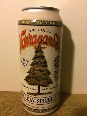 Narragansett Beer 2018 Holiday Spiced Ale Beer Can Rhode Island Christmas Tree