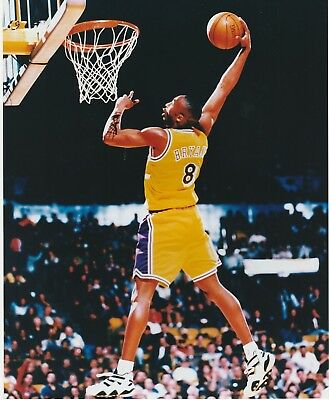 Kobe Bryant #8 La Lakers 8X10 Color Photo Slam Dunk