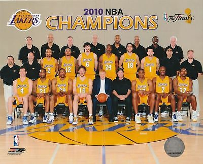 Los Angeles Lakers 8X10 Licensed Team Color Nba Photo File  2010 Champions