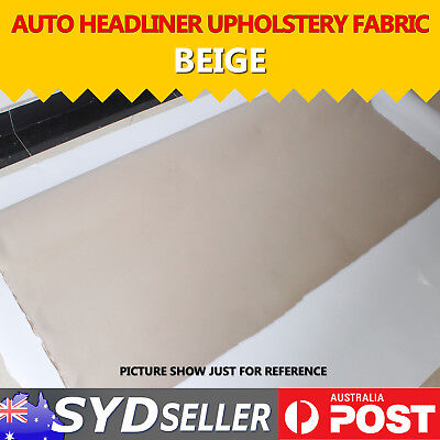 151 x 30cm Car Roof Lining Headlining Decor Beige Upholstery Foam Backed Repair