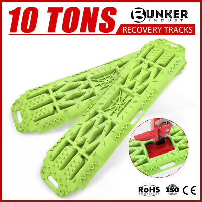Pair Off Road Recovery Tracks 10T 4x4 4WD Sand Track 10 ton GREEN 2ND Generation