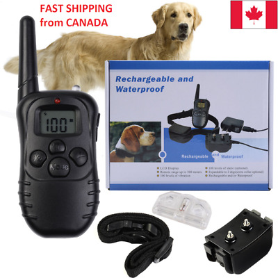 Dog Training Collar Electric Shock Anti-Bark Waterproof Remote - Fast Shipping