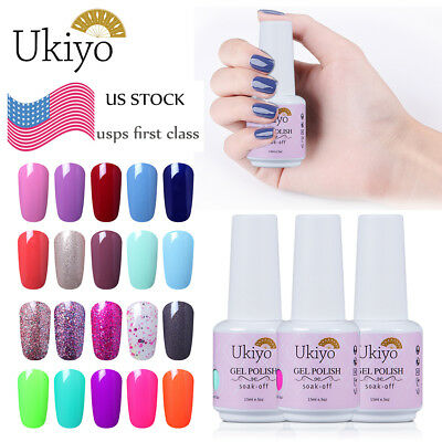 Ukiyo 15ml Soak Off UV Gel Polish Lacquer No Wipe Top Base Coat US STOCK