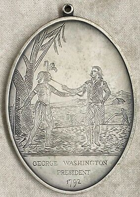 George Washington AMI sterling silver Indian Peace Medal