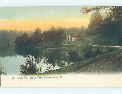 Unused Divided-Back PARK SCENE Youngstown Ohio OH H2734