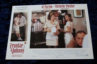 Frankie and Johnny lobby card  # 10 - Al Pacino, Michelle Pfeiffer