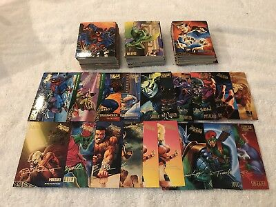 1995 Fleer Ultra Spider-Man Lot 200+ Cards; 19 Gold Signature, See Details!!