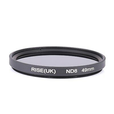 49mm Neutral Density ND8 Filter for Nikon Canon Sony Olympus camera lens