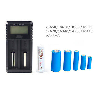 Digital LCD 2 Slots Smart Battery Charger for AA/AAA/NiCd/NiMH/Li-ion wholesale