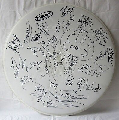 AVENGED SEVENFOLD autographed DRUM HEAD signed by 6 BANDS 2006 OZZFEST tour
