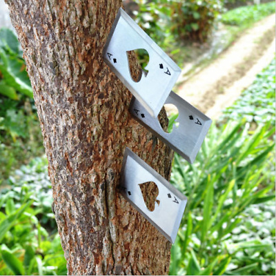 Stainless Steel Outdoor Concealed Playing Cards Throwing Toy Cool Bottle Opener