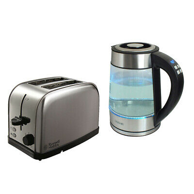 Voche 1.7L Digital Variable Temperature Kettle & 2 Slice Stainless S Toaster Set