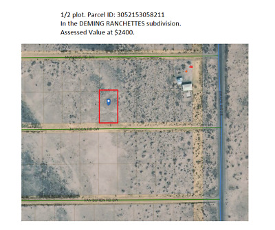 New Mexico Land For Sale in Luna County (Deming)  1/2 acre plot