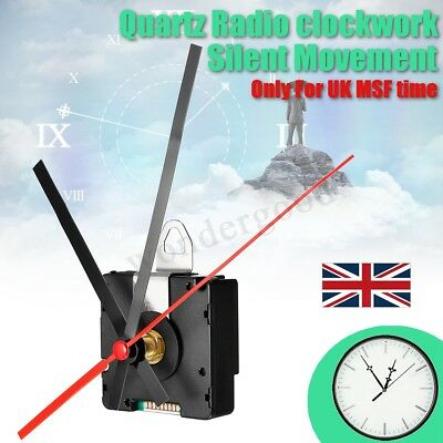 UK MSF Radio Controlled Ticking Quartz Clock Movement Mechanism 200mm Hands