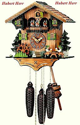 Hubert Herr,  Black Forest 8 Day musical cuckoo clock with moving beer drinkers.