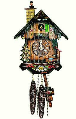 Hubert Herr,   Black Forest made lovely new 1 day weight driven cuckoo clock.