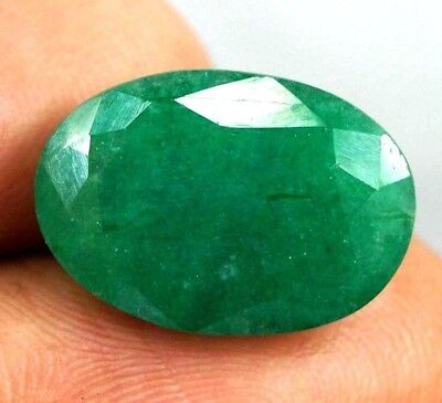 GGL Certified 8.10 Ct Natural Oval Cut Green Emerald Gemstone Hurry Up Now