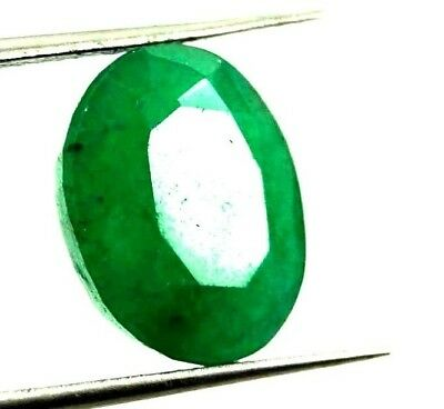 GGL Certified 6.75 Ct Natural Oval Cut Green Emerald Gemstone Hurry Up Now