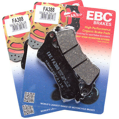 EBC FA388 x2 Organic Brake Pad Set for Honda NT 700 V Deauville 06-13