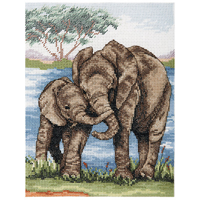 Anchor Counted Cross Stitch Kit: Essentials: Elephants