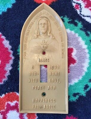LIGHT SWITCH COVER Jesus SACRED HEART Blessing Vintage Religious Catholic home