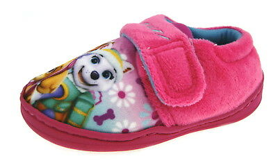 Paw Patrol Slippers Easy Touch Girls Character Booties Skye Everest Gift Kids