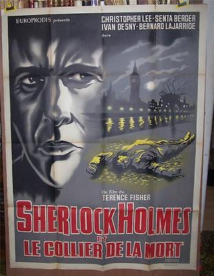Hammer Horror Star Christopher Lee Orig Sherlock Holmes French 1P Poster