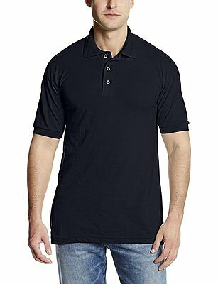 Dickies Men's Short Sleeve Pique Polo NWT Dark Navy size LG