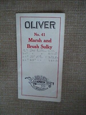 Orig. 1920s Oliver Chilled Plows No. 41 Marsh Sulky Plow Color Brochure