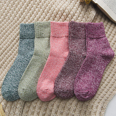 Unisex Winter Warm Soft Solid Thick Casual Sports Long Socks Christmas Womens US