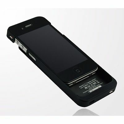 CUSTODIA COVER CARICA BATTERIA ESTERNA X APPLE IPHONE 4/4S 1900 mAh NERO