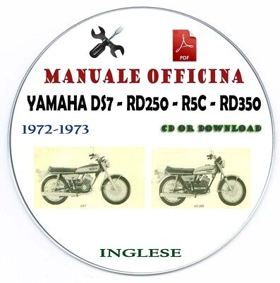 Manuale Officina Yamaha DS7 RD250 RC5 RD350 1972-1973 Workshop Manual Service