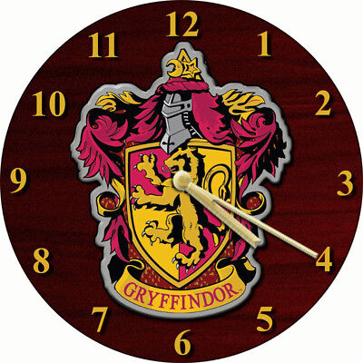 NOVELTY WALL CLOCK - Harry Potter Gryffindor Design - Character Wall Clock