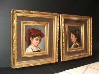 Pietro Garbini -Pair 19Th Century Tyrol Painting North Italian Oils - Listed