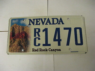 Nevada NV License Plate RC1470 Red Rock Canyon