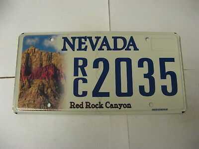 Nevada NV License Plate RC2035 Red Rock Canyon