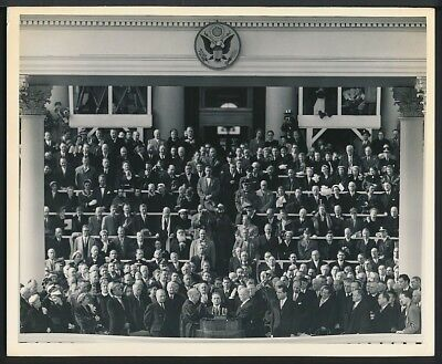 1953 Original Photo DWIGHT D. EISENHOWER Presidential Inauguration IKE SWORN IN