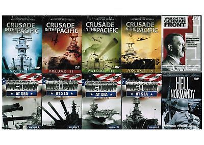 Crusade in the Pacific & Victory at Sea Volumes 1 through 4 - Ten Slim Case DVDs