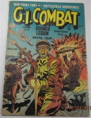 G I Combat Comic #20 Jan 1955 Richard Q Sale Charles Nicholas Art Vg Minus 3.5