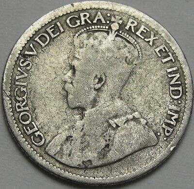 1929 10C Canada 10 Cents, Silver Canadian Dime, Silver, #12456