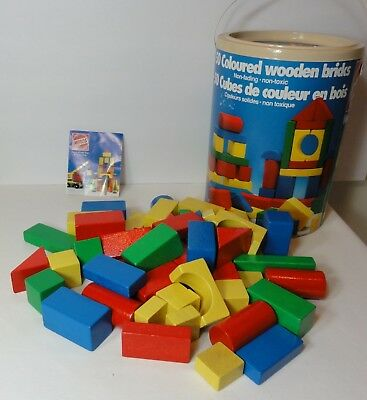 Eichhorn Heros Baby Wooden Toy Building Blocks Set Made in Germany 50 pcs EUC