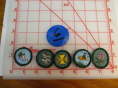 Girl Scout lot #6 merit badges collectible items (gM)