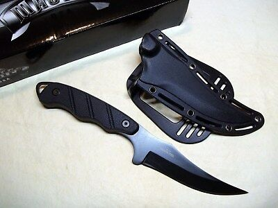 """Boot Belt Knife 9"""" Tactical Self Defense Black Stainless Paddle Holster"""