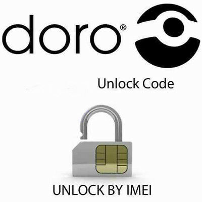 Unlock code for Doro Phone Easy  409-410-610 -345 Network Lock Pin Fast Service