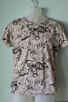 Vintage style Mens shirt Comic Collection Bershka Size S T shirt cotton
