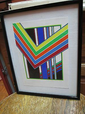 A Komposition Geometric Silkscreen Print Peter Freudenthal